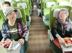 In the train from Okayama in 2019